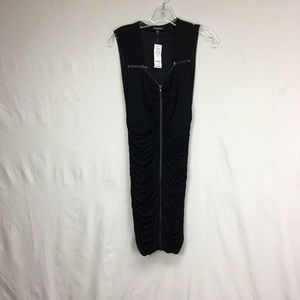 Bebe Zipper Bodycon Dress